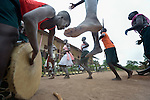 Girls perform a traditional dance at the Loreto Secondary School in Rumbek, South Sudan. The school is run by the Institute for the Blessed Virgin Mary--the Loreto Sisters--of Ireland.