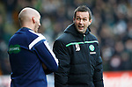 St Johnstone v Celtic...13.12.15  SPFL  McDiarmid Park, Perth<br /> Celtic boss Ronnie Deila has words with 4th official Bobby Madden<br /> Picture by Graeme Hart.<br /> Copyright Perthshire Picture Agency<br /> Tel: 01738 623350  Mobile: 07990 594431
