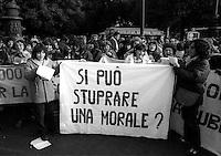 Roma 1983.Il movimento femminista manifesta contro la violenza sessuale