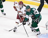 Emily Field (BC - 15), Sasha Nanji (Dartmouth - 24) - The Boston College Eagles defeated the Dartmouth College Big Green 4-3 on Sunday, October 23, 2011, at Kelley Rink in Conte Forum in Chestnut Hill, Massachusetts.