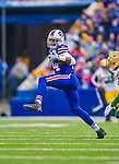 14 December 2014: Buffalo Bills wide receiver Sammy Watkins receives a pass for a 28-yard gain in the second quarter against the Green Bay Packers at Ralph Wilson Stadium in Orchard Park, NY. The Bills defeated the Packers 21-13, snapping the Packers' 5-game winning streak and keeping the Bills' 2014 playoff hopes alive. Mandatory Credit: Ed Wolfstein Photo *** RAW (NEF) Image File Available ***