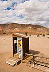 Outhouse at Salt Basin cabin, Avawatz Mountains, Calif.
