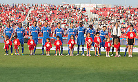 July 3, 2013: Montreal Impact during the opening ceremonies in an MLS game between Toronto FC and Montreal Impact at BMO Field in Toronto, Ontario Canada.<br /> The game ended in a 3-3 draw.