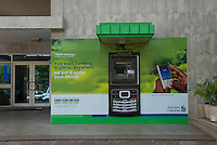 """""""You want banking anytime, anywhere. We put it under your thumb"""". Standard Chartered extend their banking services to mobile phones - whilst mobile networks extend money-sending and saving services to phones."""