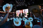 President Bush appears on screen during the second day of the Republican National Convention inside the Xcel Energy Center in St. Paul, Minnesota, Tuesday, September 2, 2008. (Brian Baer/Sacramento Bee/MCT)