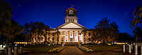 TALLAHASSEE, FLA. 4/11/16-The Historic Florida Capitol at dusk. <br /> <br /> EDITOR'S NOTE: This image is comprised of multiple photos taken at the same moment and stitched together in photoshop to create a panorama. <br /> <br /> COLIN HACKLEY PHOTO