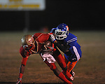 Lafayette High's Brandon Mack (4) makes a catch vs. North Pontotoc at William L. Buford Stadium in Oxford, Miss. on Thursday, October 27, 2011..
