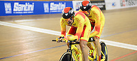 Picture by Simon Wilkinson/SWpix.com - 02/03/2017 - Cycling 2017 UCI Para-Cycling Track World Championships, Los Angeles USA - Gold - Spain's AVILA RODRIGUEZ Ignacio and FONT BERTOLI Joan branding