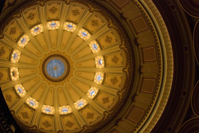 Inside Capital dome Sacramento