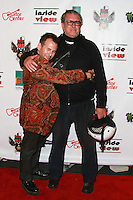 LOS ANGELES, CA, USA - OCTOBER 26: Joey Feldman, Steve Jones arrive at An Evening Of Art With Billy Morrison And Joey Feldman Benefiting The Rock Against MS Foundation held at Village Studios on October 26, 2014 in Los Angeles, California. (Photo by David Acosta/Celebrity Monitor)