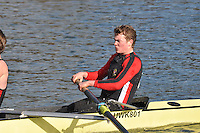 033 IM3.8+ Warwick Univ..Reading University Boat Club Head of the River 2012. Eights only. 4.6Km downstream on the Thames form Dreadnaught Reach and Pipers Island, Reading. Saturday 25 February 2012.