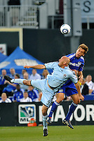 Conor Casey #9, Jimmy Conrad...Kansas City Wizards defeated Colorado Rapids 1-0 at Community America Ballpark, Kansas City,Kansas.