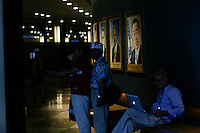 NEW YORK, USA - SEPT 14, People visit United Nations Headquarters during preparations for the 71st General Assembly in New York on September 14, 2016. photo by VIEWpress