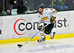 26 November 2010: University of Vermont Catamount defenseman Nick Bruneteau, a Freshman from Omaha, NE, in action against the Northeastern University Huskies at Gutterson Fieldhouse in Burlington, Vermont. The Huskies came back from a 2-0 deficit to earn a 2-2 tie against the Catamounts. Mandatory Credit: Ed Wolfstein Photo
