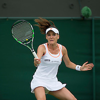 AGNIIESZKA RADWANSKA (POL)<br /> <br /> The Championships Wimbledon 2014 - The All England Lawn Tennis Club -  London - UK -  ATP - ITF - WTA-2014  - Grand Slam - Great Britain -  24th June 2014. <br /> <br /> &copy; AMN IMAGES