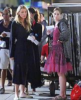"""Blake Lively & Leighton Meester on the set of """" Gossip Girl """" - New York"""