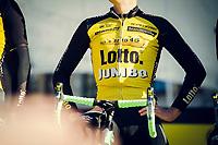 Team LottoNL-Jumbo on stage during the morning team presentations<br /> <br /> 101th Ronde Van Vlaanderen 2017 (1.UWT)<br /> 1day race: Antwerp &rsaquo; Oudenaarde - BEL (260km)