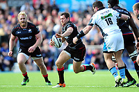Alex Goode of Saracens goes on the attack. European Rugby Champions Cup Quarter Final, between Saracens and Glasgow Warriors on April 2, 2017 at Allianz Park in London, England. Photo by: Patrick Khachfe / JMP