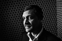 Dr. Anant Agarwal, photographed in the Stata Center at MIT, is the director of MIT's Computer Science and Artificial Intelligence Laboratory and a professor of Electrical Engineering and Computer Science. Professor Agarwal is also the instructor of 6.002x, the first course offered in the school's online learning initiative MITx.  The course covers engineering in the context of circuit design and abstraction and helps students transition from physics to electrical engineering and computer science.