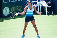 NEW YORK, NY - August 27, 2013: Julia Goerges (GER) during her first round single's match at the 2013 US Open in New York, NY on Tuesday, August 27, 2013.