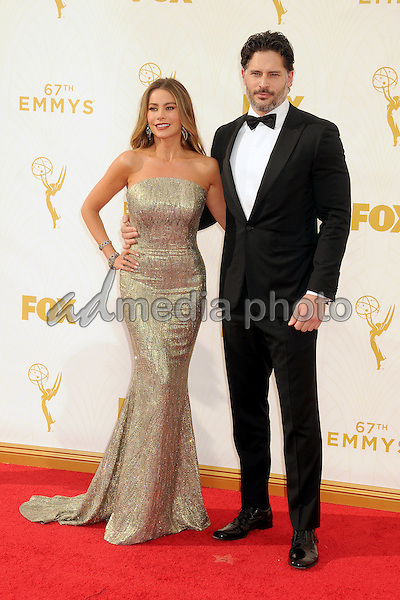20 September 2015 - Los Angeles, California - Sofia Vergara, Joe Manganiello. 67th Annual Primetime Emmy Awards - Arrivals held at Microsoft Theater. Photo Credit: Byron Purvis/AdMedia