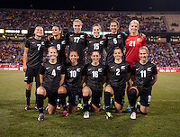 New Zealand lines up before an international friendly at Crew Stadium in Columbus, OH. The USWNT tiedNew Zealand, 1-1.