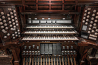 The restored Skinner pipe organ in St. Michael's church in Jersey City, New Jersey