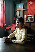Aung San Suu Kyi, Nobel Peace Prize Laureate and General Secretary of the National League for Democracy (NLD) at her home in Rangoon.