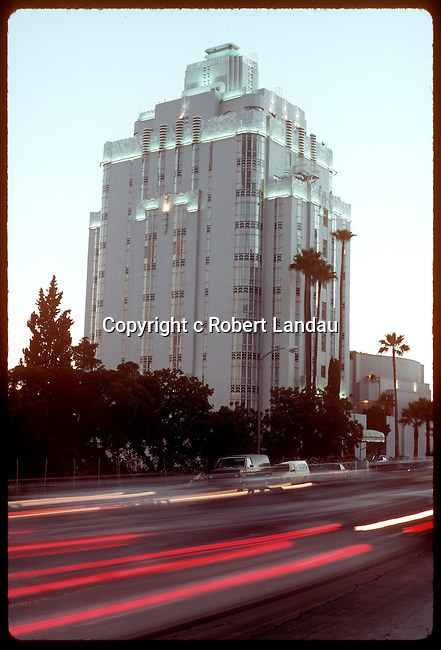 The Sunset Tower building on the Sunset Strip in West Hollywood, CA