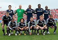 22 May 2010: New England Revolution starting eleven during a game between the New England Revolution and Toronto FC at BMO Field in Toronto..Toronto FC won 1-0.....