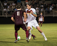 The Winthrop University Eagles played the College of Charleston Cougars at Eagles Field in Rock Hill, SC.  College of Charleston broke the 1-1 tie with a goal in the 88th minute to win 2-1.  Adam Brundle (12), Ike Crook (11)