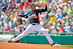 12 March 2009: Atlanta Braves' pitcher Jair Jurrjens on the mound during a Spring Training game against the Washington Nationals at Disney's Wide World of Sports in Orlando, Florida. The Braves defeated the Nationals 6-2 in the Grapefruit League matchup. Mandatory Photo Credit: Ed Wolfstein Photo
