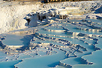 Photo  of Pamukkale Travetine Terrace, Turkey. Images of the white Calcium carbonate rock formations. Buy as stock photos or as photo art prints. 12