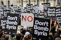 "28.11.2015 - ""Don't Bomb Syria"" - Demo Outside Downing Street"