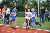 ATLETIEK: HEERENVEEN: 19-09-2015, Athletic Champs AV Heerenveen, Rick Velkers (#11 | 11 jaar), Hidde Veenstra (#86 | 11 jaar), Jorrit ten Hoeve (#6 | 11 jaar), ©foto Martin de Jong