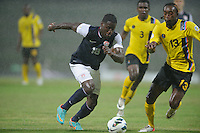 Antigua and Barbuda, Friday, Oct 12, 2012: The USA Men's National Team vs Antigua and Barbuda in the first round of qualifying for the 2014 World Cup. Eddie Johnson dribbles the ball.