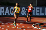 11 JUNE 2010: Keshia Baker of Oregon takes the turn in the Womens 400 meter dash during the Division I Men's and Women's Track and Field Championship held at Hayward Field on the University of Oregon campus in Eugene, OR.  Steve Dykes/NCAA Photos