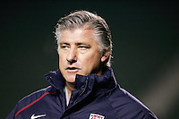 Sigi Schmid, USA over Trinidad, 6-1, Wednesday, Jan. 12, 2005, in Carson, California.