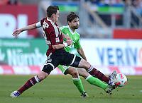 FUSSBALL   1. BUNDESLIGA  SAISON 2012/2013   10. Spieltag 1. FC Nuernberg - VfL Wolfsburg      03.11.2012 Hanno Balitsch (li, 1 FC Nuernberg) gegen Diego (VfL Wolfsburg)