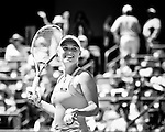Caroline Wozniacki can only smile after winning the finals during the 2011 Family Circle Cup at Daniel Island.