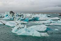 Iceland, Jokulsarlon, Glacier lagoon. Skaftafell National Park