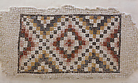 Patterned mosaic from the Kayanos church, 'Uyun Musa Valley, Mount Nebo, Jordan, now in the Mount Nebo Museum. This mosaic depicts a geometric pattern in several colours and was found in a small Byzantine church excavated in the 1980s. Picture by Manuel Cohen