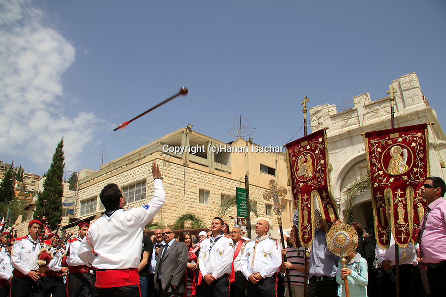 Israel, Nazareth, the Greek Orthodox Annunciation Day procession