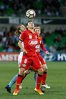 Melbourne, 28 October 2016 - ISAÍAS (8) of Adelaide fights for the ball in the round 4 match of the A-League between Melbourne City and Adelaide United at AAMI Park, Melbourne, Australia. Melbourne won 2-1 (Photo Sydney Low / sydlow.com)