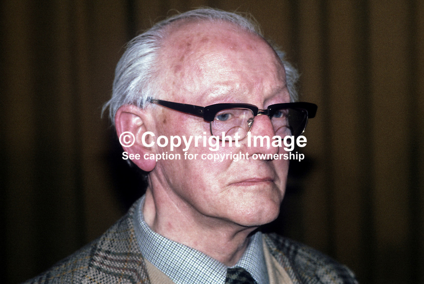 Kevin Agnew, Maghera, Provisional Sinn Fein activist, pictured at Fermanagh & South Tyrone by-election count on 10th April 1981. The by-election was won by Bobby Sands, the Anti H-Blocks candidate. 198104100010KA1..Copyright Image from Victor Patterson, 54 Dorchester Park, Belfast, United Kingdom, UK...For my Terms and Conditions of Use go to http://www.victorpatterson.com/Victor_Patterson/Terms_%26_Conditions.html