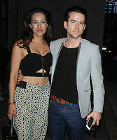 NEW YORK, NY-August 15: America Olivo, Christian Campbell at Focus World a Comcast Company presents premiere of Tale of Love and Darkness at the Crosby Street Hotel in New York. August 15, 2016. Credit:RW/MediaPunch