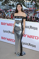 MIAMI BEACH, FL - MAY 13: Alexandra Daddario attends the Baywatch Movie Premiere at Lummus Park on May 13, 2017 in Miami Beach, Florida. Credit: mpi04/MediaPunch