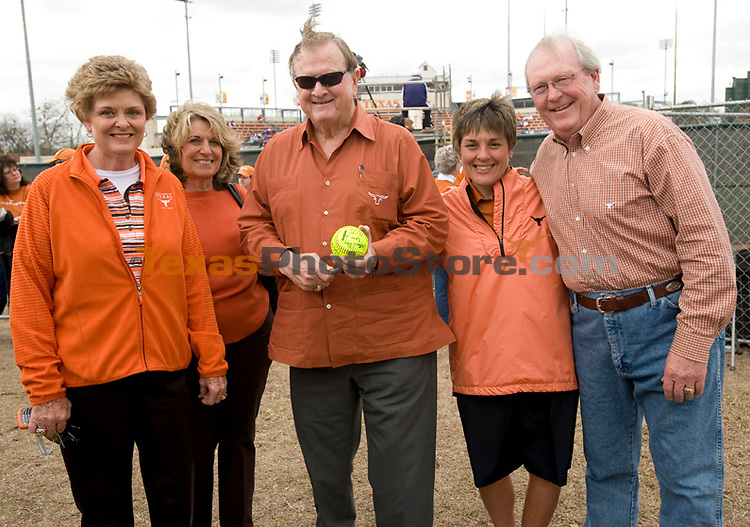 Jody Conradt, Isabella Cunningham, Red McCombs, Chris Plonsky and Craig Helwig