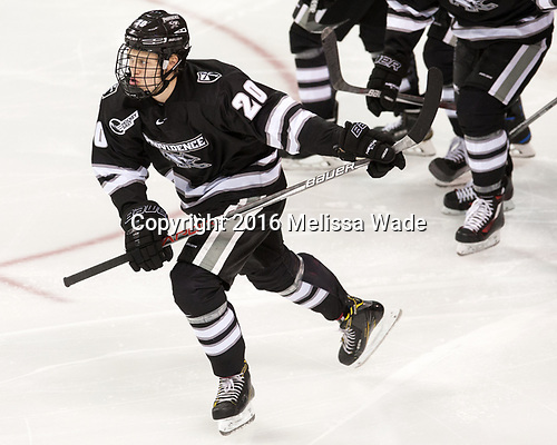 Kasper Björkqvist (PC - 20) - The Boston College Eagles defeated the visiting Providence College Friars 3-1 on Friday, October 28, 2016, at Kelley Rink in Conte Forum in Chestnut Hill, Massachusetts.The Boston College Eagles defeated the visiting Providence College Friars 3-1 on Friday, October 28, 2016, at Kelley Rink in Conte Forum in Chestnut Hill, Massachusetts.