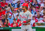 23 May 2015: Philadelphia Phillies outfielder Odubel Herrera in action against the Washington Nationals at Nationals Park in Washington, DC. The Phillies defeated the Nationals 8-1 in the second game of their 3-game weekend series. Mandatory Credit: Ed Wolfstein Photo *** RAW (NEF) Image File Available ***